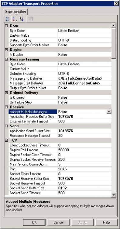 BizTalk Server 2009: TCPIP Adapter - Delphi/RPG+CL/Sonstige ...