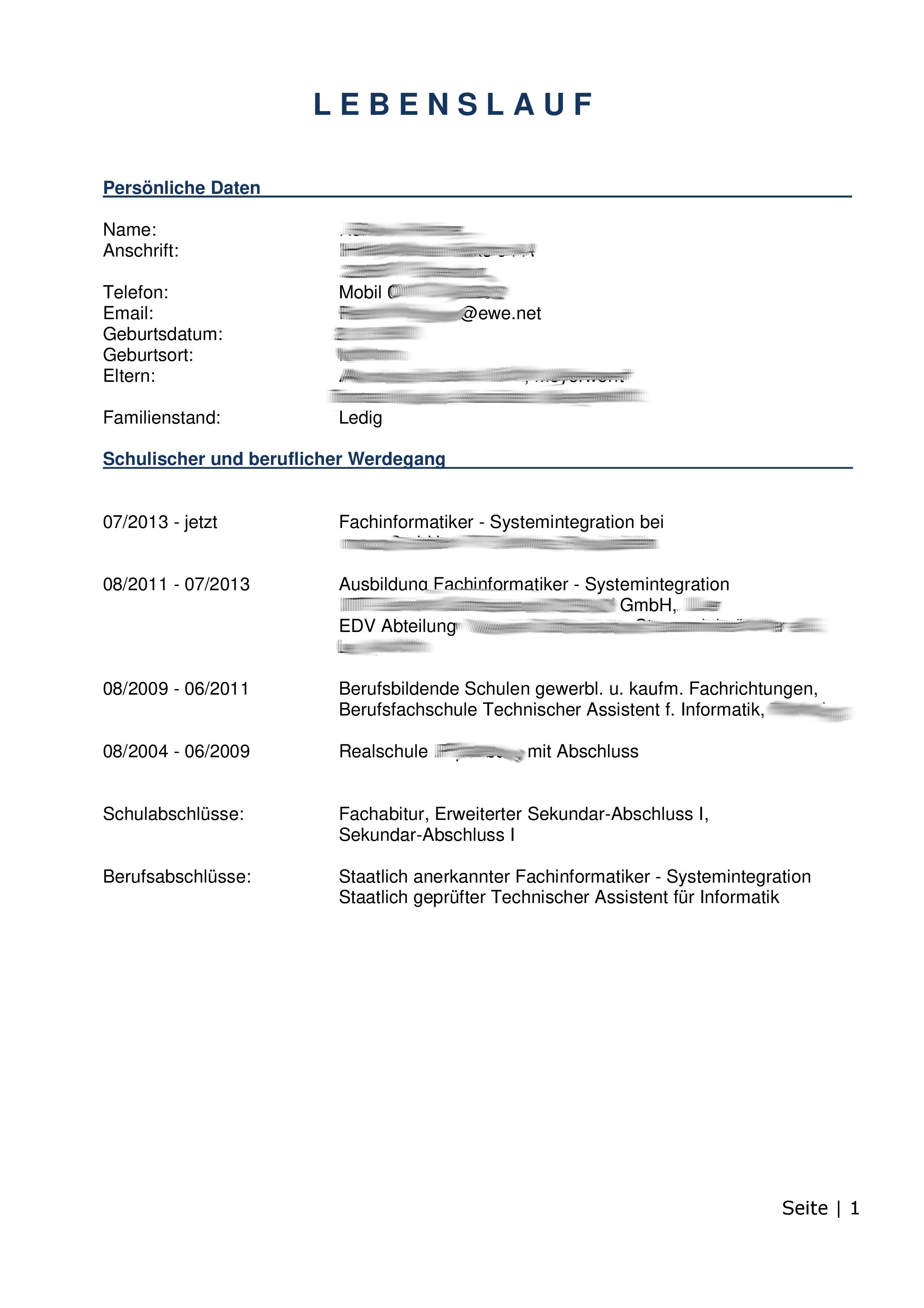 Initiativbewerbung Anschreiben FISI Jobsuche Bewerbung Und